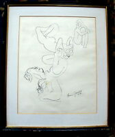 Original Female Nude Drawing by Lorrie Goulet, Signed, Fine Art