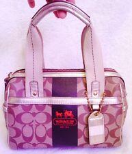 REDUCED!!  Coach Heritage Stripe Handbag Purse Satchel K0769 11353