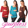 Basic MATERNITY Long Sleeve Top Pregnancy Blouse Size 8 10 12 14 16 18 8041