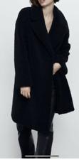 Zara Black Faux Shearling Coat Size Large BNWT