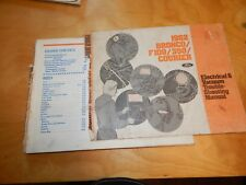 1982 BRONCO F100 350 COURIER FORD ELECTRICAL VACUUM TROUBLE SHOOTING MANUAL
