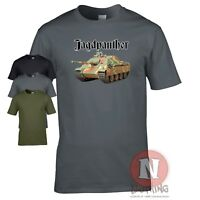 Jagdpanther tank destroyer WW2 German military armour T-shirt World of war Tanks