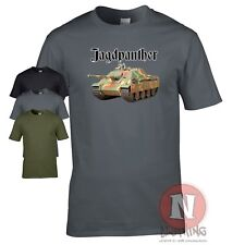 Jagdpanther tank destroyer WW2 German military armour T-shirt World of war Tanks