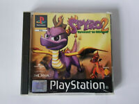 SPYRO 2 GATEWAY TO GLIMMER Playstation PS1 Black Label Complete VGOOD CONDITION