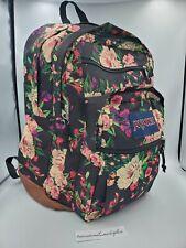 BRAND NEW JANSPORT Cool Student Backpack BLACK BOUQUET FLORAL