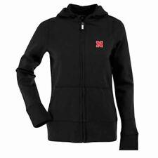 New Antigua Nebraska Womens Zip Front Hoody Sweatshirt Black Small