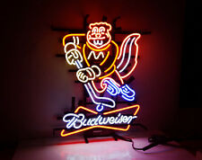 Hockey BUD Light Sign Hand Craft Neon Boutique Workshop Beer Bar Pub Decor