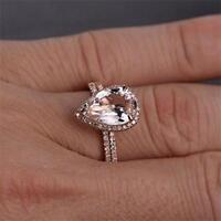 2PCs/Set mode verlobung frauen charme crystal band ring schmuck hochzeit