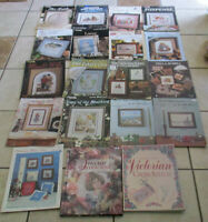 Lot 19 Cross-Stitch Pattern Books Booklet Victorian Bridges French Impressionist