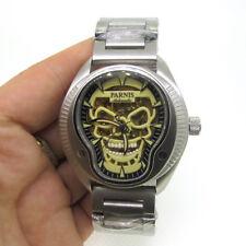 43mm Parnis Luminous Skull Sapphire Miyota Automatic Men's Watch Stainless Band