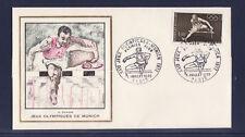 enveloppe 1er jour  Jeux Olympiques  Munich    Paris   1972