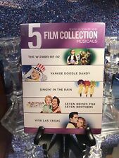 5 Film Collection Musicals DVD Singin' in The Rain Wizard of Oz 3 More