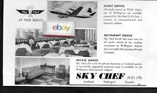 AIR NEW ZEALAND-TEAL 1963 LOCKHEED ELECTRA SKY CHEF WELLINGTON MEALS AD