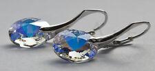 Earrings Swarovski Rivoli 12mm Sterling Silver 925
