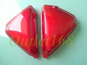 Pair HONDA CB125 S 1971 - 1972 CB125S CB100 K0 K1 Side Frame Battery Cover Red