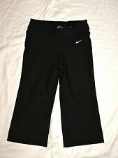 womens NIKE regular fit BE STRONG poly black capri pants size S NEW nwt $60