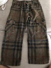 Burberry Boys-Kids Canvas Pants Size 4Y-104 cm