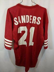Champion Deion Sanders San Francisco 49ers Jersey #21 Red Adult 48/XL 1994 vtg