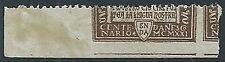 1921 REGNO DANTE 40 CENT VARIETà PARTE DI FRANCOBOLLO MNH ** - W157