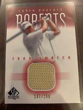 2001 SP Authentic Tour Swatch Golf Card #LRTS Loren Roberts 137/250