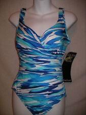 MIRACLESUIT Escape BLUE   1 Pc Tank Swimsuit -  NWT $146 - 12 US / 14 AU