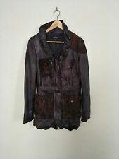 muubaa UK size 10 brand new leather jacket trench coat