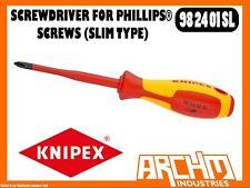 KNIPEX 982401SL - SCREWDRIVER FOR PHILLIPS® SCREWS (SLIM TYPE) - 187MM - PH 1