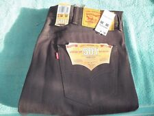 New LEVIS 501 SHRINK TO FIT 38 Waist 30 Leg Button Fly Mens Burgundy Rigid Jeans