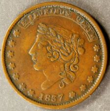 1837 HARD TIMES TOKEN, LOW #36, HT # 51.  NICE, ATTRACTIVE, PROBLEM FREE