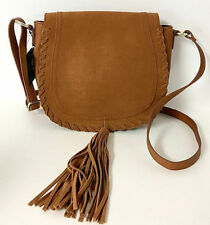 INC INTERNATIONAL CONCEPTS $70 NWT Willow Cognac Saddle Tassel Bag Faux Leather