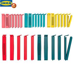 Original IKEA BEVARA 30 Stück Verschlussklemmen Verschlussclips Frischhalteclips