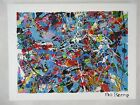 Phil Pierre - BUBBLE GUM 388 - original abstract art acrylic painting on canvas