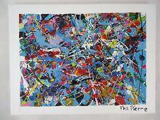 Phil Pierre-Bubble Gum 388-Original Arte Abstracto Pintura de acrílico sobre tela