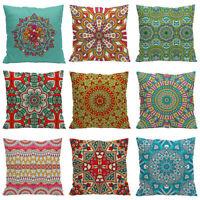 "18"" National Wind Pattern Home Decor Pillow case Cotton Linen Sofa Cushion Cover"