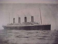 VINTAGE NEWSPAPER HEADLINE~STEAM SHIP SEA DISASTER TITANIC DEPARTURE SOUTHAMPTON