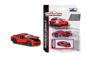 NEW Majorette Toy Fair 2020 RED PORCHE 911 Carrera S Car Limited Edition