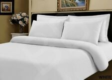 400 Thread Egyptian Cotton SUPER KING Bed Duvet Cover Quilt Bedding Set WHITE