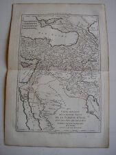 carta TURCHIA Asia di BUONA antica 1781 Arabia saudita Persia Armenia Algezira
