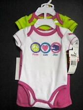 New Puma 3pc bodysuits pants set girls 3-6 m Peace Love Puma
