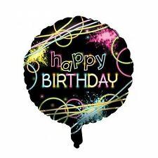 Glow Stick Happy Birthday 46cm Foil Balloon Party Supplies