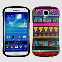 Multi Color Triangular Tr Hard Anti-Shock Samsung Galaxy S 4 IV i9500 Case Cover