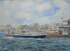 Barry Peckham, Lymington Town Slipway, Royal and Town Yacht Clubs, Watercolour
