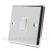 Polished Mirror Chrome Classical 1 Gang Switch -10 Amp CPC1GSWIWC