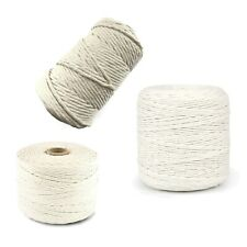 2mm 3mm 5mm Natural Craft Macramé Cotton String Artisan Thread Twisted Cord