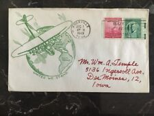 1943 USA Patriotic Cover Knoxville Tn United We Stand To Desmoines Iowa