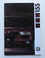 1992 Alfa Romeo 155 Brochure Twin Spark 1.8 2.0 Italian Vintage Original