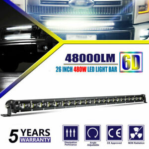 26inch LED Light Bar Ultra-thin Single Row Slim DRL for Ford Chevy Truck UTE Van