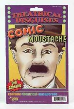 Black Comic Chaplin Moustache Fake Small Black Mustache Disguise Self Adhesive