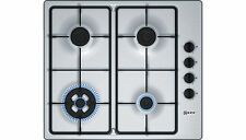 Neff T26BR56N0 Built in 58cm 4 Burners Gas Hob Stainless Steel