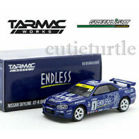 Greenlight Tarmac Works Nissan Skyline GT-R R34 1/64 Endless Blue 51184